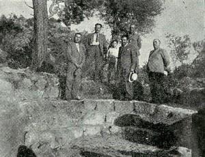 Ο Ορλάνδος στο Χαλινάδο πριν την αναστήλωση (1937)